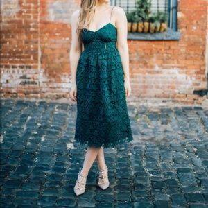 Club Monaco Emerald Green Lace Dress Bolari 6